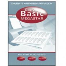 MEGASTAR SCAT.800 ETICHETTE 99X67,7