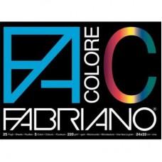FABRIANO ALBUM DISEGNO COLOR 33*48 CM 25 FF ASSORTITI 220 G/MQ