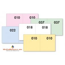 BLOCCHI LOTTERIA N. 1-100 CF.40 BLOCCHI 4 COLORI