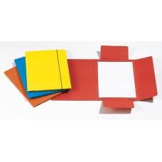 CARTELLE 3L CON ELASTICO PLASTIFICATO 17X25 GIALLO CONF.10