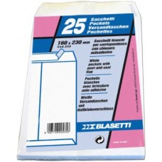 BLASETTI BUSTA BIANCA SACCO CON STRIP 16X23 20 CONFEZIONI DA 25 BUSTE