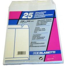 BLASETTI BUSTA BIANCA SACCO CON STRIP 23X33 CONFEZIONE 20 PACCHETTI DA 25 BUSTE