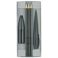 F.CASTELL GIFT SET BLACK EDITION SET PENNA CONICA E MATITE GRIP