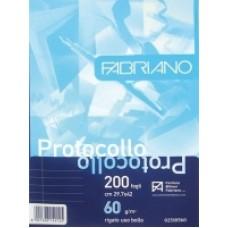 FABRIANO FOGLI PROTOCOLLO USO BOLLO 66GR. SCATOLA DA 1200 FOGLI