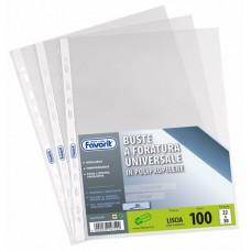 FAVORIT BUSTA FORATURA UNIVERSALE AIR LISCIA CONF.100 BUSTE 22X30