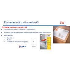 SCATOLA 200 ETICHETTE INDIRIZZI A5 210X148MM.