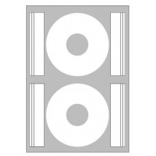 ETICHETTE LASER X CD DIAMETRO 117MM - SCATOLA 50 ETICHETTE