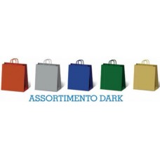 SADOCH BORSA SHOPPER KRAFT ASSORTITE DARK 16*8*21 CONF.25