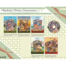 BIGLIETTO COMUNIONE DVD 5 SOGGETTI CONF.12 BIGLIETTI
