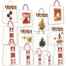 BORSA SHOPPER XMAS CARTA RISO 2*6*15 MINI CF.6 BORSE