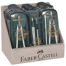 FABER CASTELL ESPOSITORE COMPASSI 15 COMPASSI 3 MODELLI ASSORTITI