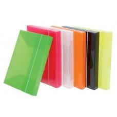 CARTELLA PVC CON ELASTICO A4 DORSO 3.7CM