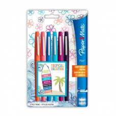 PAPERMATE NYLON FLAIR TROPICAL VACATION BLISTER 6 COLORI