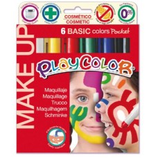 PLAYCOLOR MAKE UP BASIC POCKET 6 COLORI