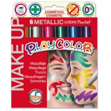 PLAYCOLOR MAKE UP METALLIC POCKET 6 COLORI