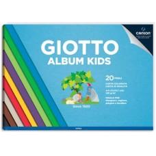 GIOTTO ALBUM KIDS A4 COLORI ASSORTITI 20FF 120GR CF.5