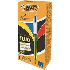 BIC 4 COLOURS FLUO CONF.12