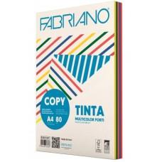 FABRIANO COPY TINTA A4 80GR MULTICOLOR 5 COLORI FORTI 250FF