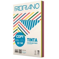 FABRIANO COPY TINTA A4 160GR CARTONCINO 5 COLORI FORTI 100FF