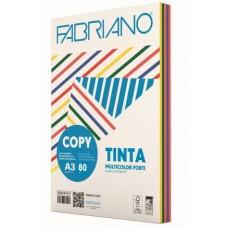 FABRIANO COPY TINTA A3 80GR MULTICOLOR 5 COLORI FORTI 250FF