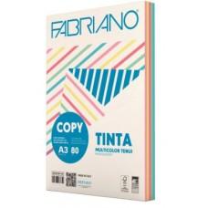 FABRIANO COPY TINTA A3 80GR MULTICOLOR 5 COLORI TENUI 250FF