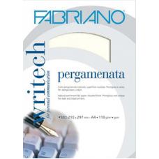FABRIANO CARTA PERGAMENATA A4 BIANCO 50 FOGLI 110GR