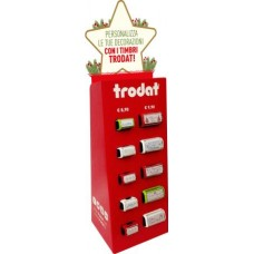 TRODART ESPOSITORE HAPPY CHRISTMAS 10 TIMBRI NATALIZI ASSORTITI