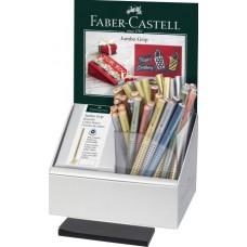 FABER-CASTELL JUMBO GRIP METALLIC ESPOSITORE 48 MATITE COLORATE