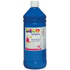 DECO TEMPERA FLACONE 500ML. BLU CYANO