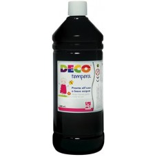 DECO TEMPERA FLACONE 500ML. NERO