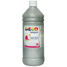 DECO TEMPERA FLACONE 500ML. ARGENTO