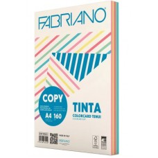 FABRIANO COPY TINTA A4 160GR CARTONCINO 5 COLORI TENUI 100 FOGLI