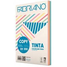 FABRIANO COPY TINTA A4 200GR COLORCARD 5 COLORI TENUI 100 FOGLI