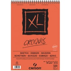 CANSON ALBUM XL SCHIZZO A3 CROQUIS SPIRALATO 120FF 90GR.
