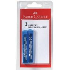FABER CASTE  ASTUCCIO 12 MINE HB 0,7 BLISTER 2 ASTUCCI