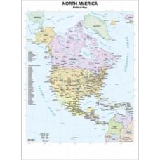 CARTA MURALE 97*134CM NORD AMERICA
