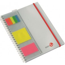 BM BLOCCO SPIRALATO 4 FORI C/POST-IT E RIGHELLO 1R
