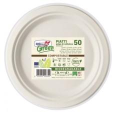 PIATTI GREEN FRUTTA DIAM.17,5 COMPOSTABILE BIO CF.50
