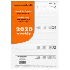 RICAMBIO ORGANIZER SETTIMANALE 2020 GRANDE A5 14.5*21CM