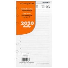 RICAMBIO ORGANIZER GIORNALIERO MEDIO 2020 9.5*17CM