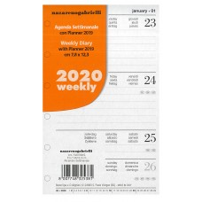RICAMBIO ORGANIZER SETTIMANALE 2020 PICCOLO 7.8*12.3CM