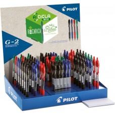 PILOT 2020 ESPOSITORE G-2 0.7 RICICLATA 84 PENNE COLORI STANDARD