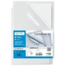 SEI CARTELLINE L CAPRI 61 R PVC TRASPARENTE CF.10