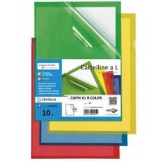 SEI CARTELLINE L CAPRI 61 R COLOR PVC ROSSO CF.10