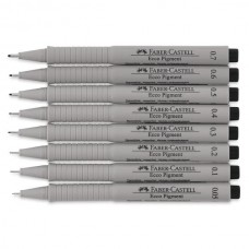 FABER-CASTELL ECCO PIGMENT 0,4MM. INK NERO - CONF.10 PENNE