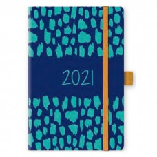 AGENDA 2021 GIORNALIERA 9X14 CON ELASTICO ABSTRACT COLORI ASSORTITI