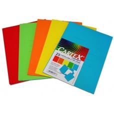 CARTEX CARTELLINE 3 LEMBI 25*33,5 CONF.10 PZ. COLORI ASSORTI
