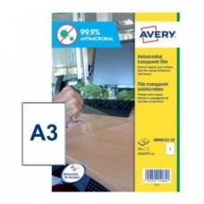 ADESIVI A3 ANTIMICROBICI E ANTIBATTERICI TRASP. CF.10 F