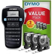 DYMO PROMO PACK LM160 3 NASTRI D1-NERO/BIANCO (450130)