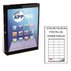 APPTAC ETICHETTE ADESIVE 70X36